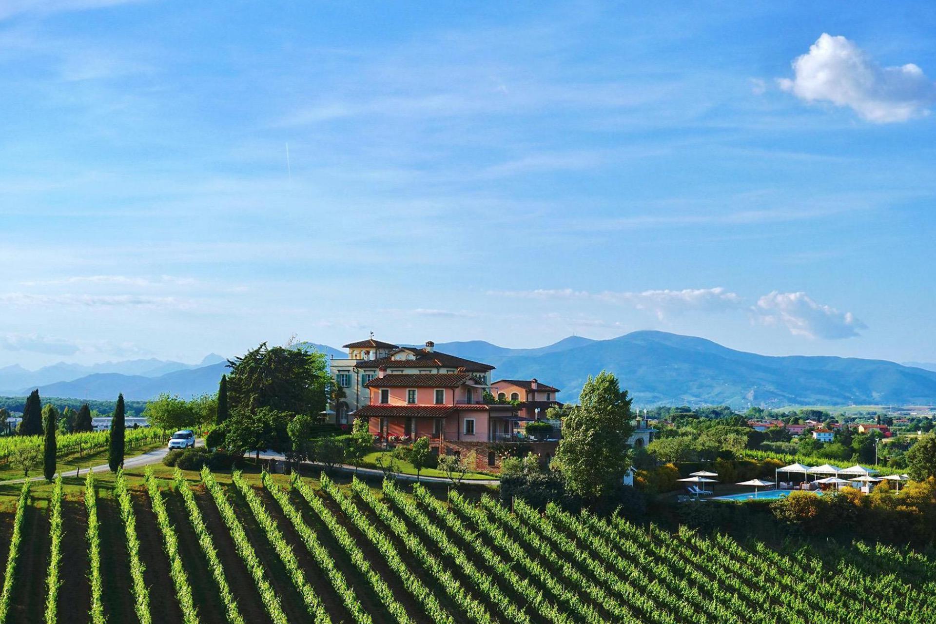 1. Luxe en prestigieus wijnhuis vlakbij Pisa