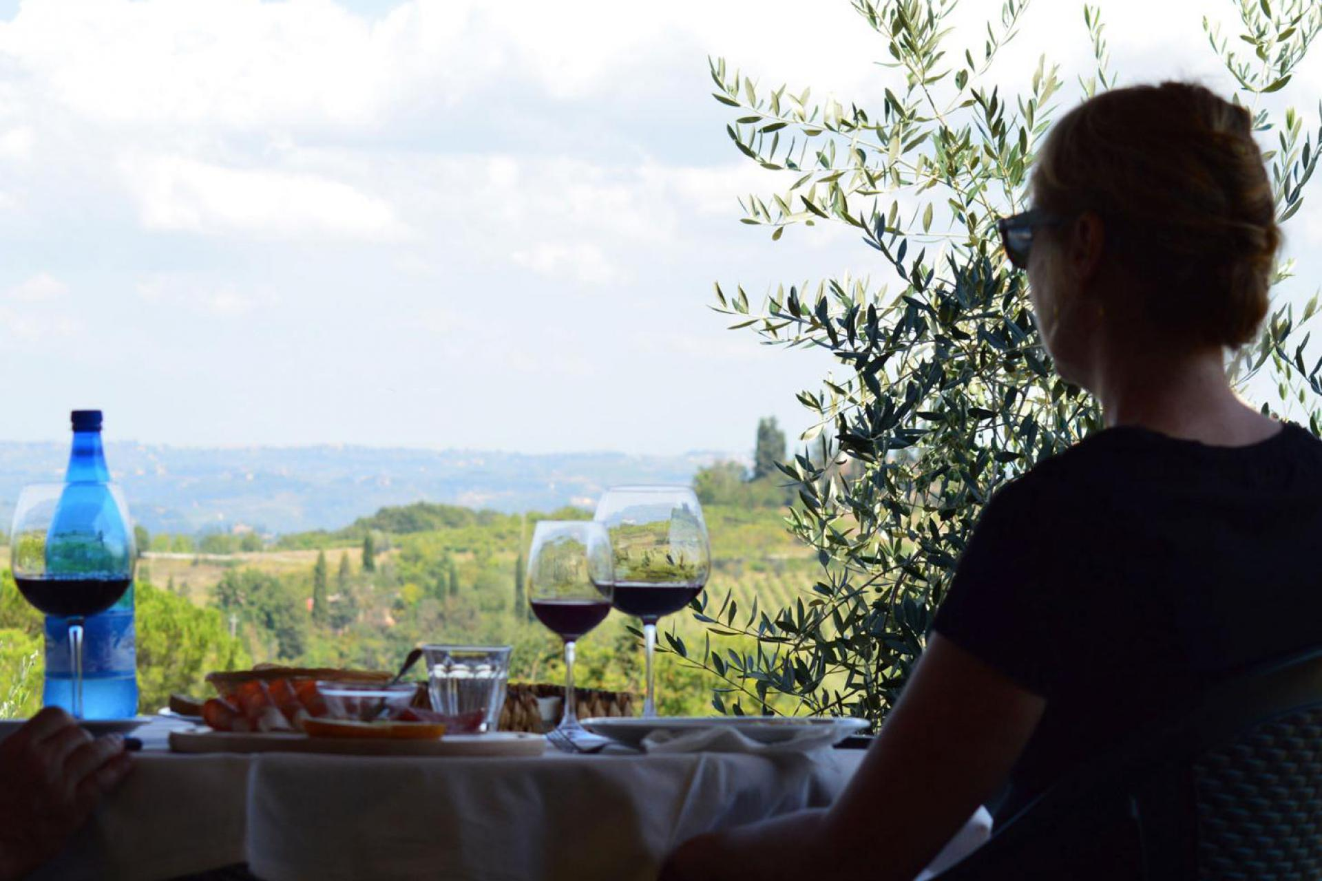 Klein wijnhuis bij San Gimignano