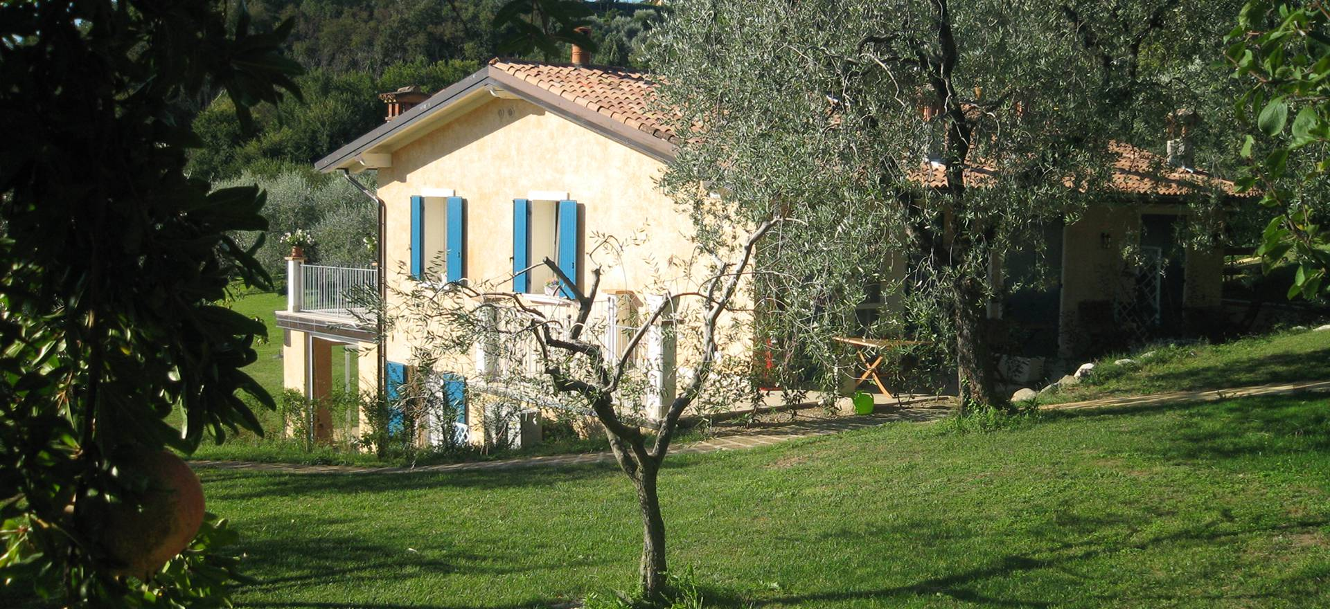 Sfeervolle agriturismo tussen de olijfbomen, dichtbij het Gardameer