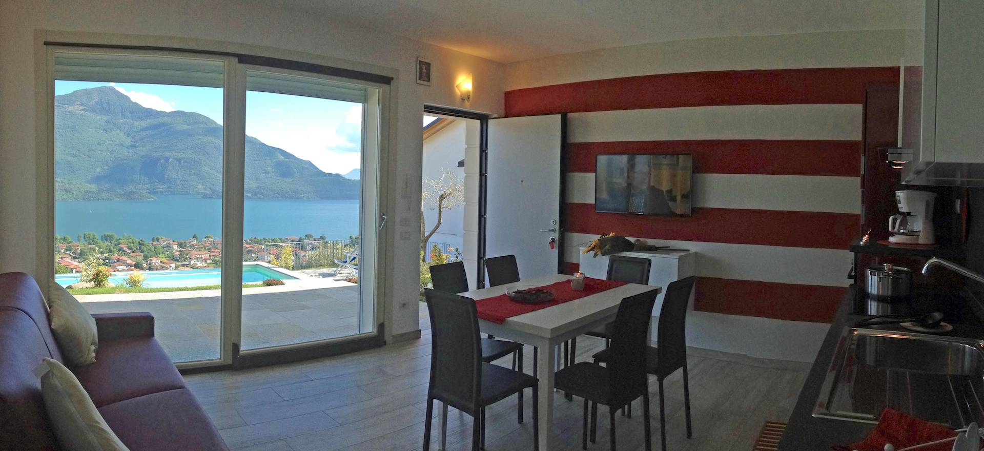 Residence met uniek uitzicht op het Comomeer