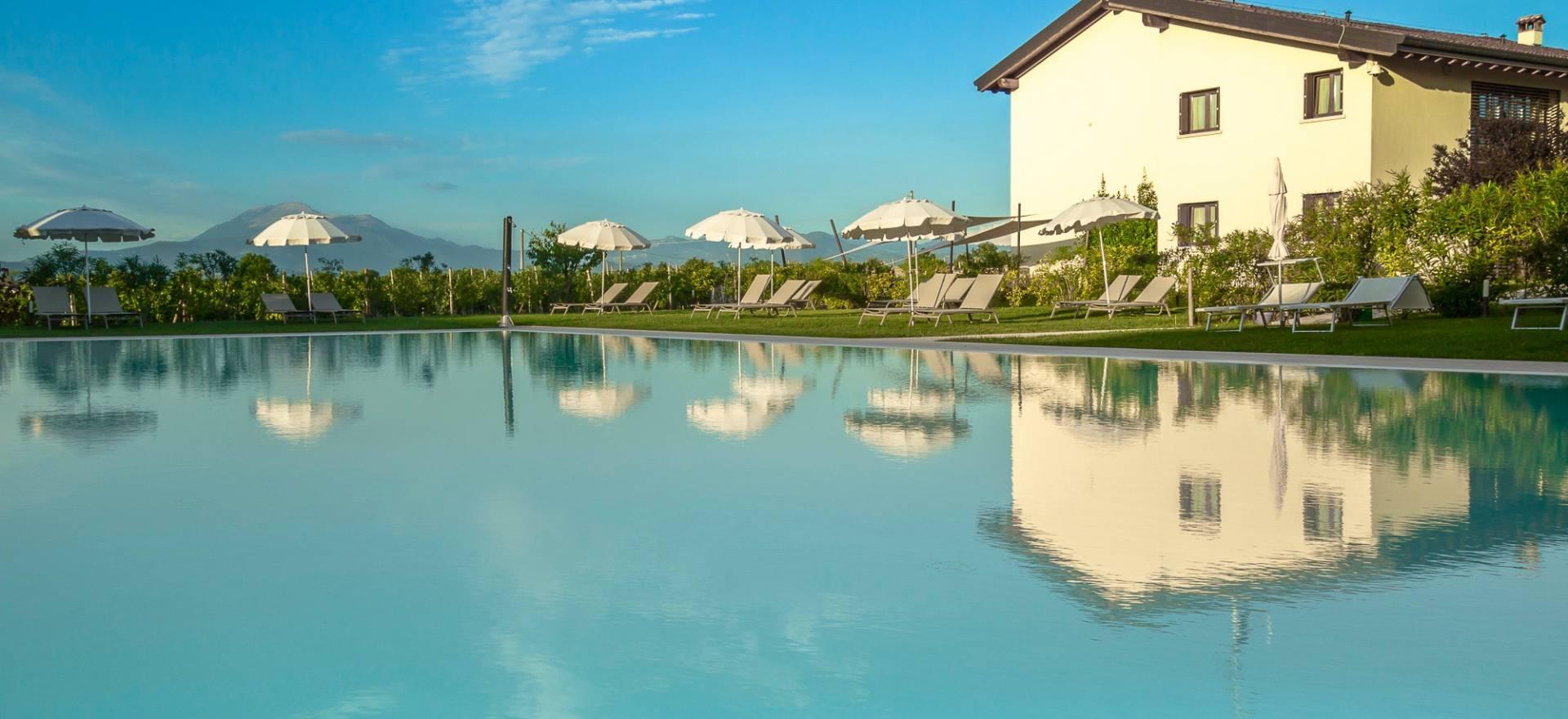 Familie agriturismo Gardameer met groot zwembad