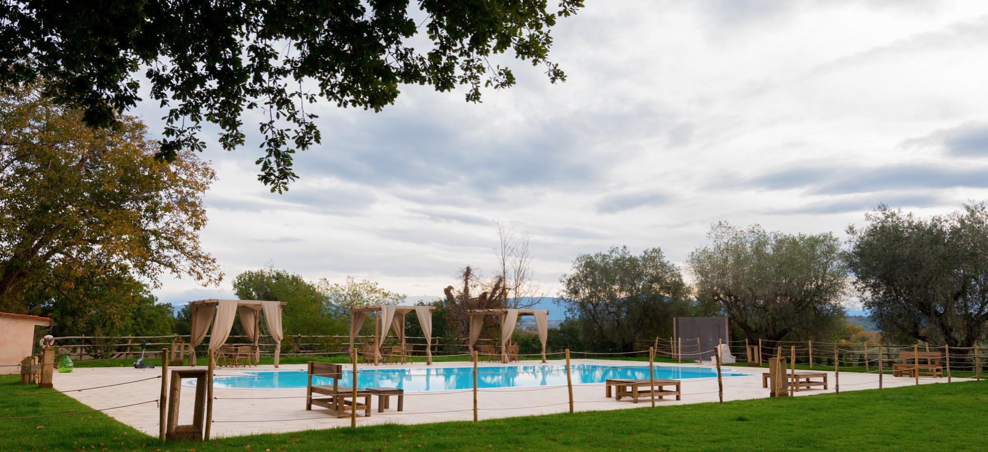 Luxe agriturismo bij Rome met restaurant en zwembad