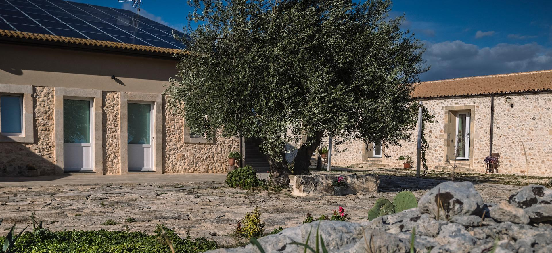 Agriturismo op het Siciliaanse platteland