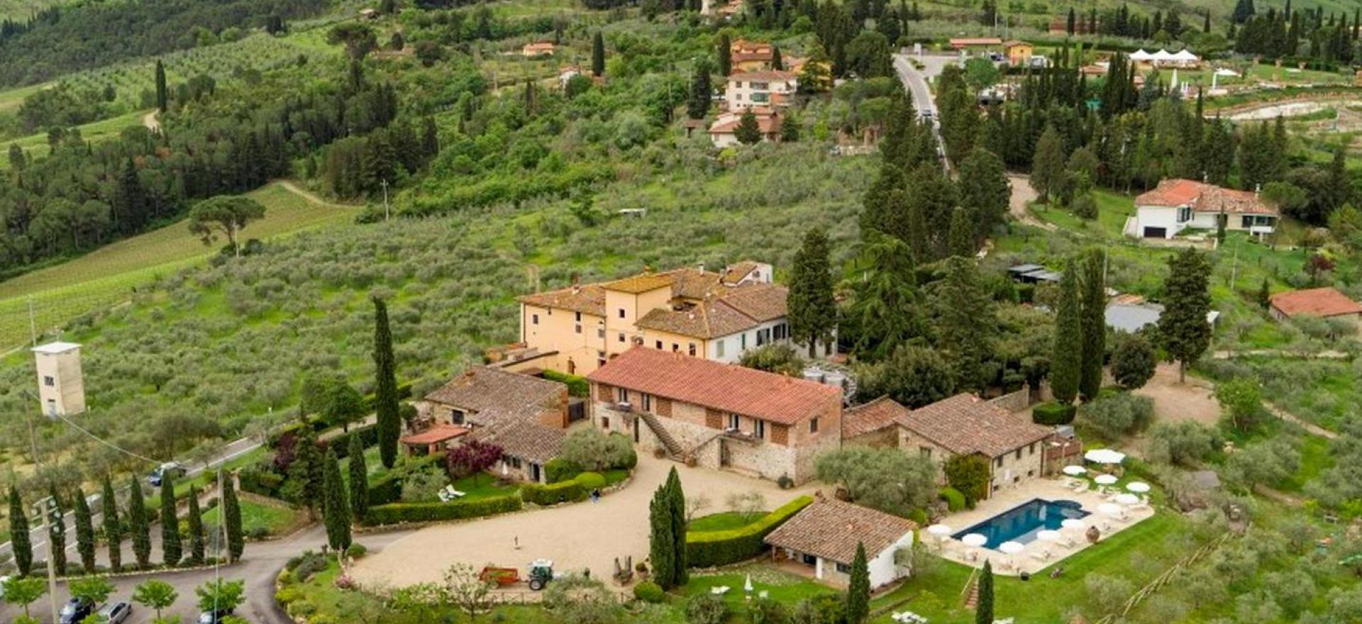 Agriturismo in Toscane tussen de wijngaarden bij Florence