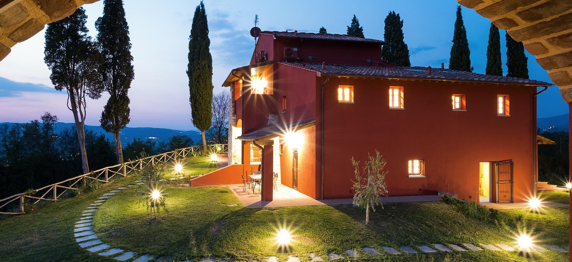 Agriturismo met design interieur in Toscane