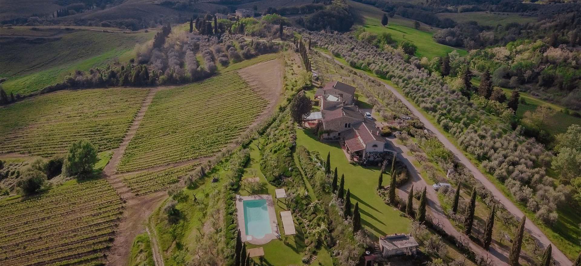 Agriturismo in olijfgaard met super uitzicht in Toscane
