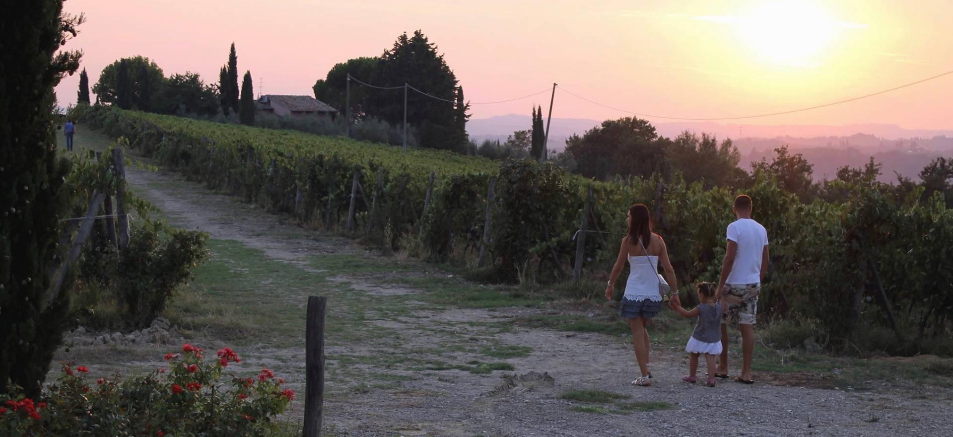 Wijnboerderij op een heuvel in het Chiantigebied