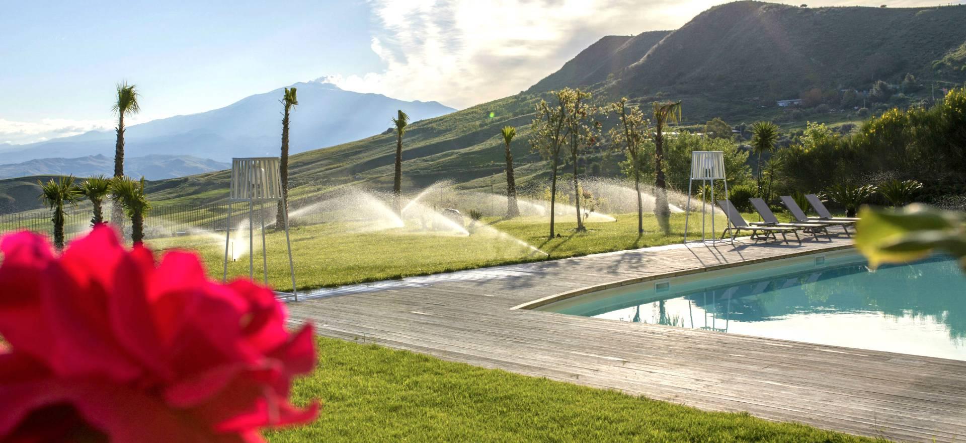 Agriturismo met uitzicht op de Etna