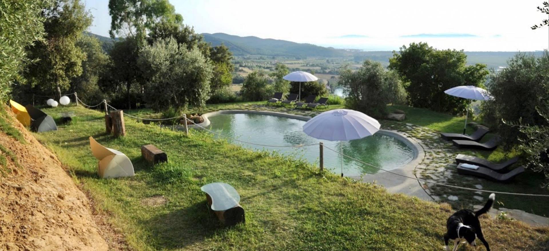 Agriturismo Toscane Mooie agriturismo in Zuid Toscane met zeezicht