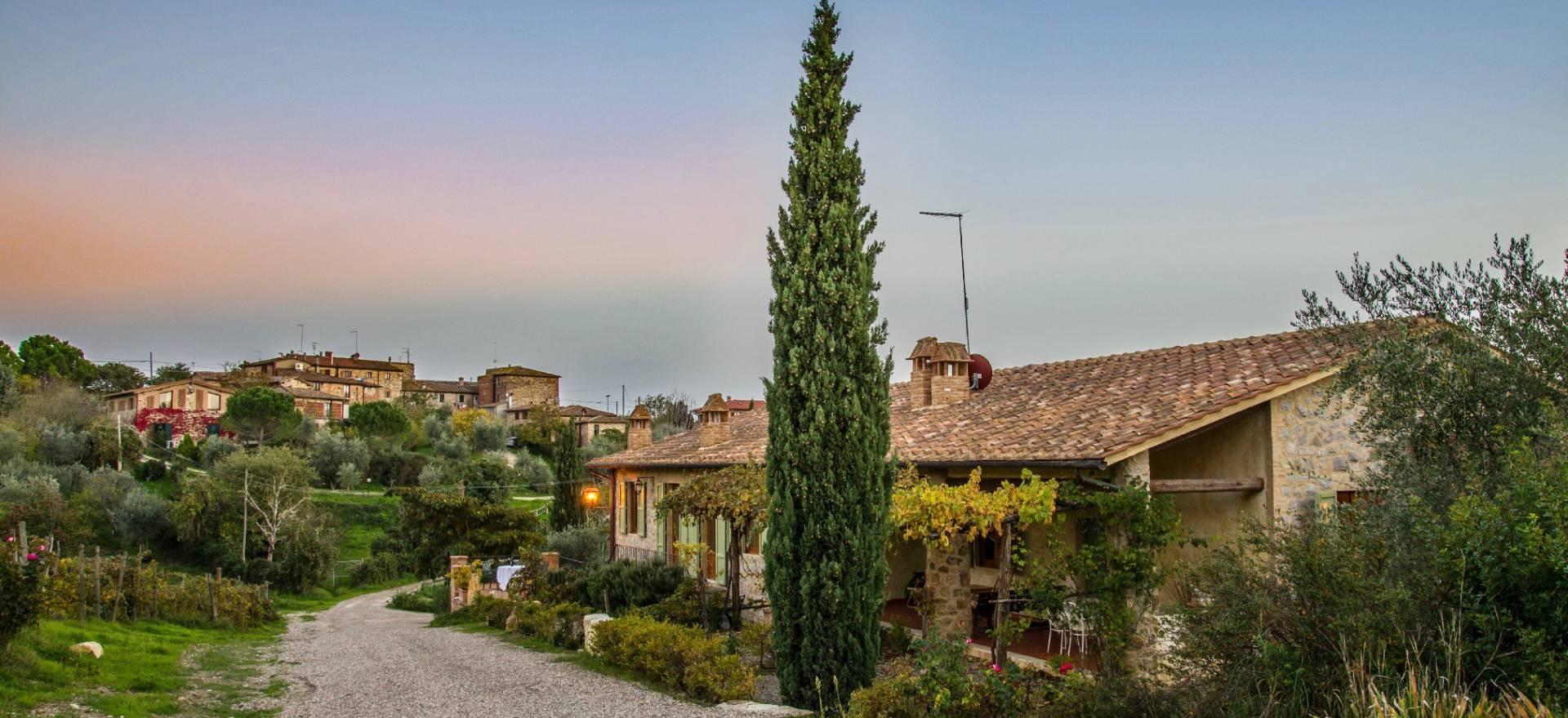 Authentieke wijnboerderij vlakbij Siena, Toscane